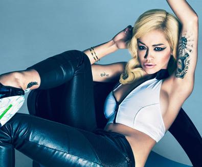 Rita Ora Showing off her tattoos - aphrodite tattoo