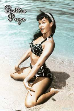 Bettie Page On Beach Pin Up Style Photo Shoot Tattoo