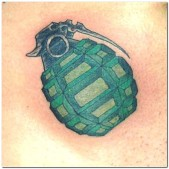 British Military Army Grenade Tattoo design photo picture idea