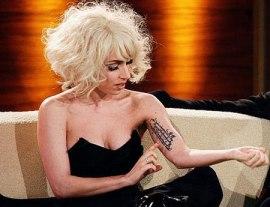 Lady Gaga German Bicep Tattoo Design photo picture idea
